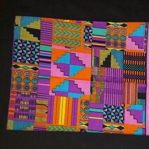 Kente Print Headwrap measures 15x74